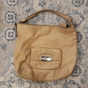 Large coach leather shoulder purse